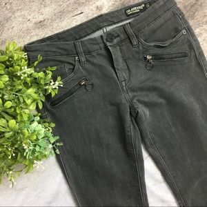 Blank NYC Grey Skinny Faux Leather Jeans